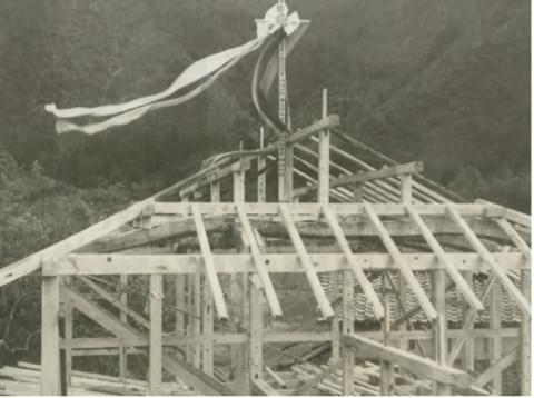 1980年坂根工務店施工時のようす