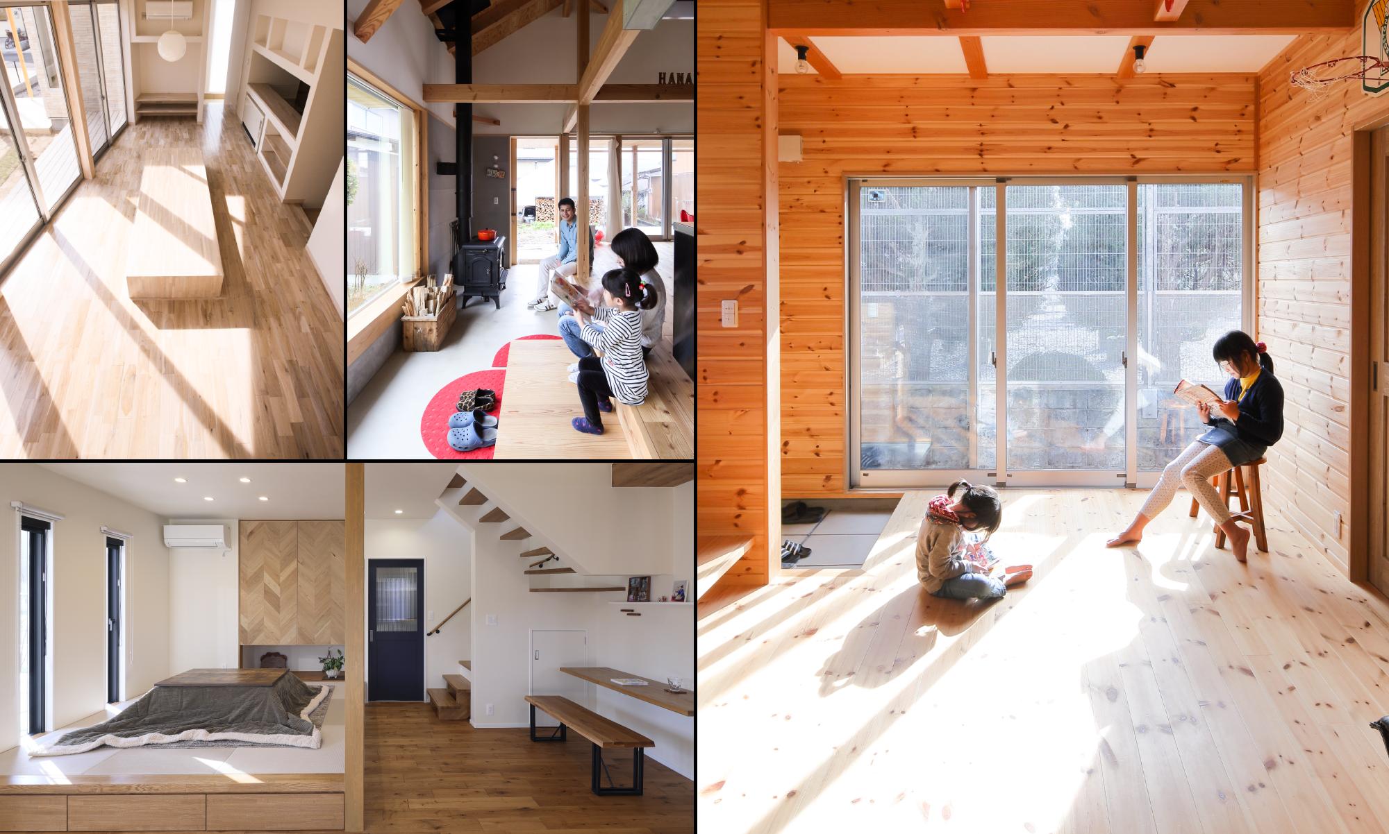 坂根工務店住宅の自然の力を利用した「暖かさ」を感じる内観組写真