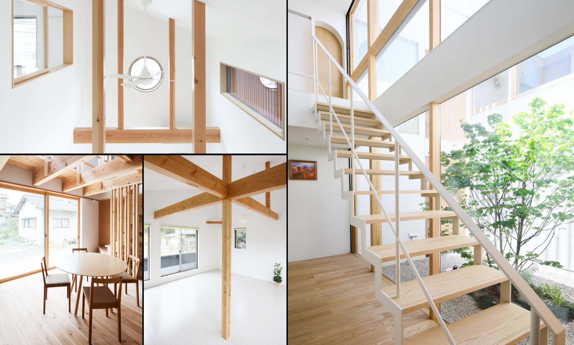 坂根工務店住宅の自然の力を利用した「明るさ」を感じる内観組写真
