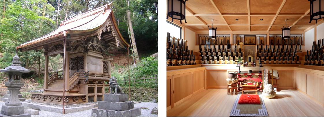 坂根工務店建築の社寺外観と内観